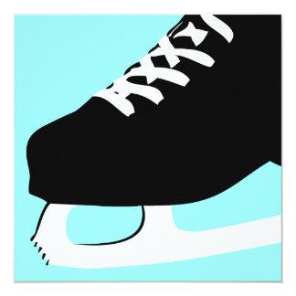 """patinaje de hielo invitación 5.25"""" x 5.25"""""""