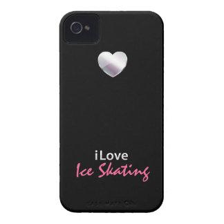 Patinaje de hielo lindo iPhone 4 Case-Mate protector
