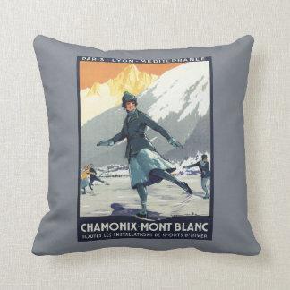Patinaje de hielo - poster olímpico del promo de cojín