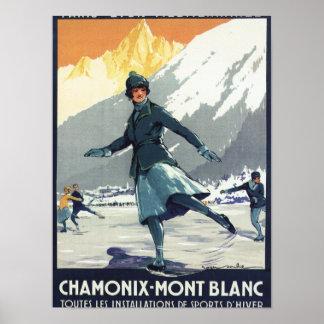 Patinaje de hielo - poster olímpico del promo de P