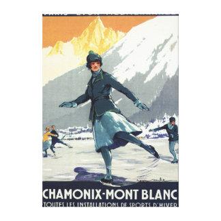 Patinaje de hielo - poster olímpico del promo de P Impresión En Lienzo