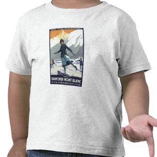 Patinaje de hielo - poster olímpico del promo de camiseta