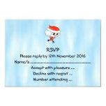 Patinaje de hielo Santa. La Navidad Invitación 8,9 X 12,7 Cm