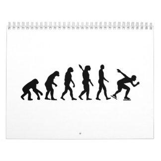 Patinaje de velocidad de la evolución calendario