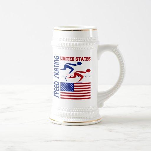 Patinaje de velocidad Estados Unidos Taza De Café