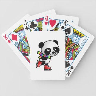 Patinaje del oso de panda cartas de juego