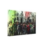 Patinaje en las calles de Londres Lona Envuelta Para Galerías