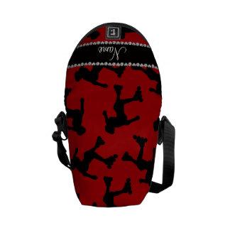 Patinaje en línea rojo conocido personalizado bolsa de mensajería