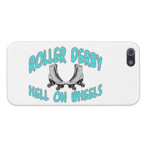 Patinaje sobre ruedas de Derby del rodillo iPhone 5 Fundas