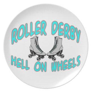 Patinaje sobre ruedas de Derby del rodillo Plato De Comida