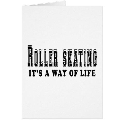 Patinaje sobre ruedas es manera de vida felicitación