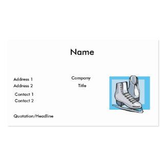 patines de hielo blancos gráficos tarjeta de visita