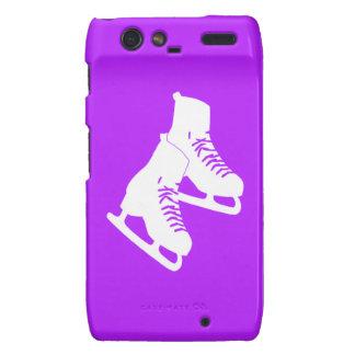 Patines de hielo de Droid RAZR púrpuras Motorola Droid RAZR Carcasa