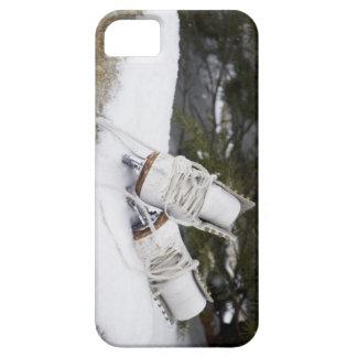 Patines de hielo, figura patines en nieve iPhone 5 protector