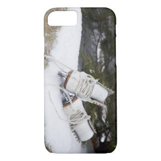 Patines de hielo, figura patines en nieve funda iPhone 7