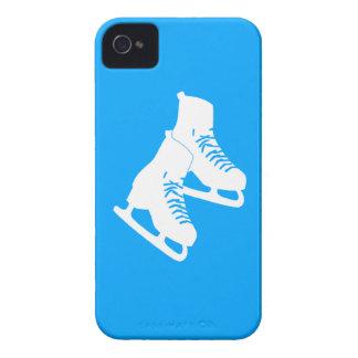 Patines de hielo intrépidos de Blackberry azules Case-Mate iPhone 4 Carcasas