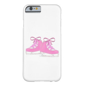 Patines de hielo rosados funda para iPhone 6 barely there