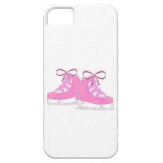 Patines de hielo rosados iPhone 5 funda