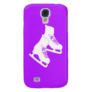 Patines de hielo vivos de HTC púrpuras