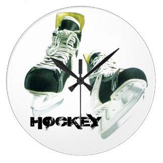 Patines del hockey reloj redondo grande