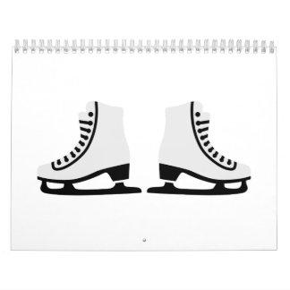 Patines del patinaje artístico calendario
