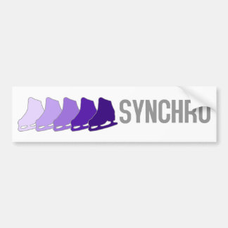 Patines sincrónicos pegatina de parachoque