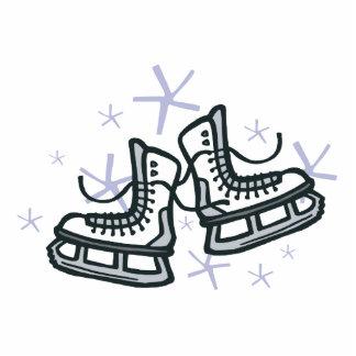 patines y copos de nieve de hielo gráficos fotoescultura vertical