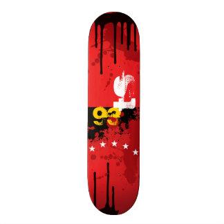 Patineta Red & Black Ink Skateboard Deck