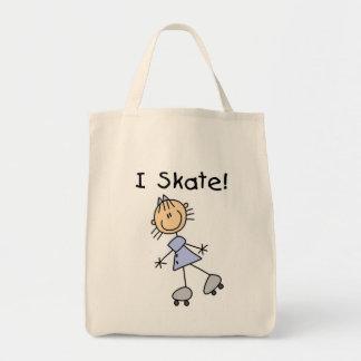 Patino patinador del rodillo del chica bolsa tela para la compra