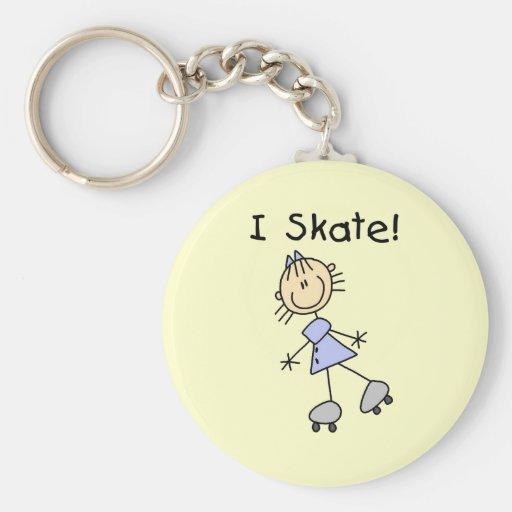 Patino patinador del rodillo del chica llavero