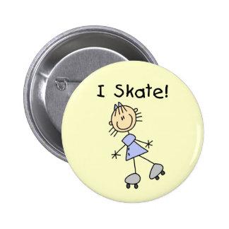 Patino patinador del rodillo del chica pin redondo 5 cm