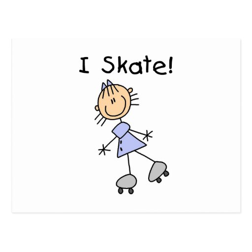 Patino patinador del rodillo del chica postal