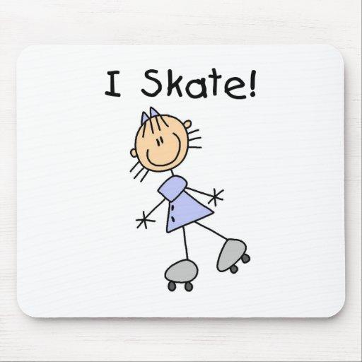 Patino - patinador del rodillo del chica alfombrillas de ratones