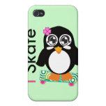 patino pingüino iPhone 4 cárcasa