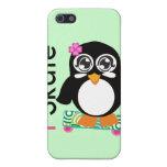 patino pingüino iPhone 5 carcasas