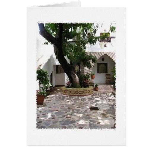 Patio Ajijic México del Blanca de las casas Tarjeta