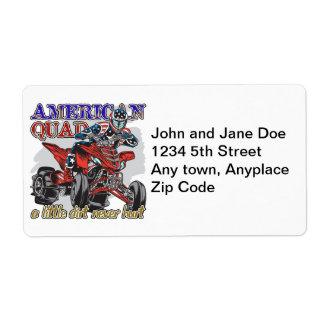 Patio americano etiquetas de envío