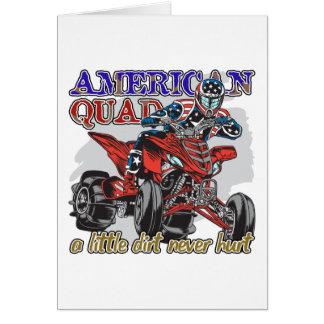 Patio americano tarjeta de felicitación