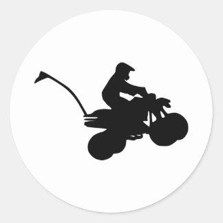 Patio - ATV Pegatina Redonda