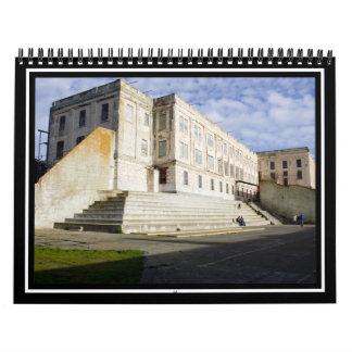 Patio de la prisión en Alcatraz Calendarios De Pared