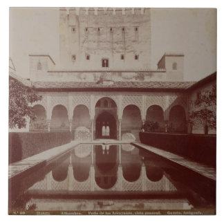 Patio de los Arrayanes, Alhambra, c.1875-80 (sepia Azulejo Cuadrado Grande