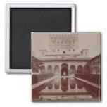 Patio de los Arrayanes, Alhambra, c.1875-80 (sepia Magnet