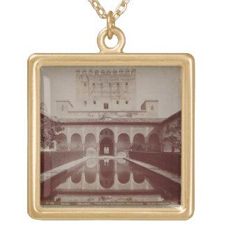 Patio de los Arrayanes, Alhambra, c.1875-80 (sepia Jewelry