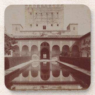 Patio de los Arrayanes, Alhambra, c.1875-80 (sepia Posavasos De Bebidas