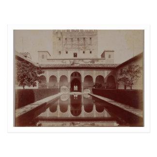Patio de los Arrayanes, Alhambra, c.1875-80 (sepia Postcard
