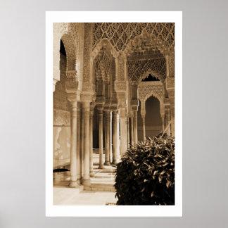 Patio de los leones, palacio de Alhambra Impresiones