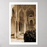Patio de los leones, palacio de Alhambra Póster