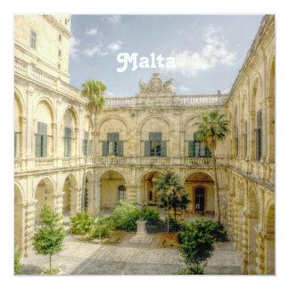 """Patio de Malta Invitación 5.25"""" X 5.25"""""""