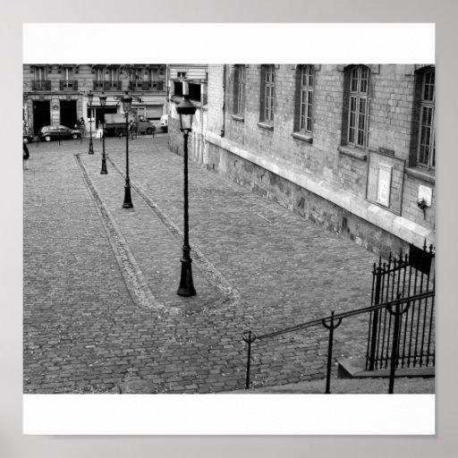 Patio de Montmartre Poster