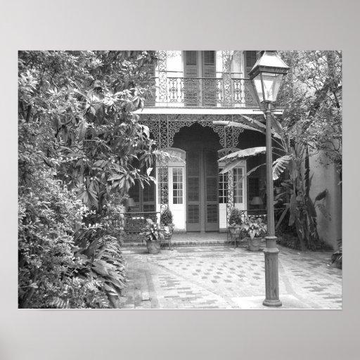 Patio de New Orleans Póster